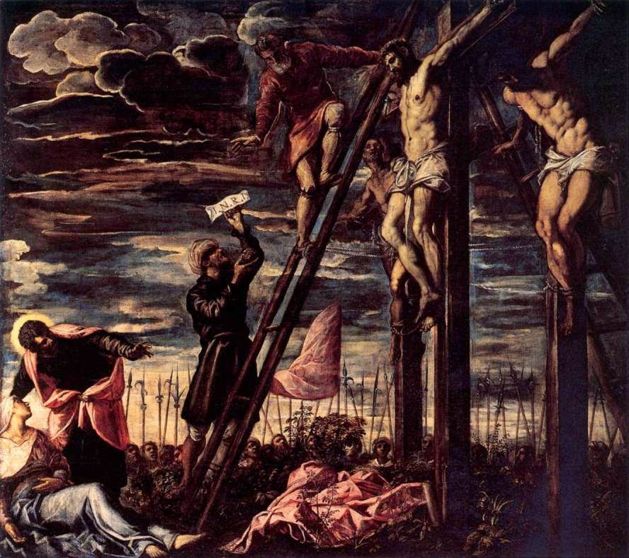 103 the crucifixion of christ-tintoretto