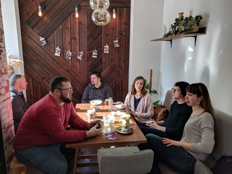 Coffee with friends from CC Kharkiv